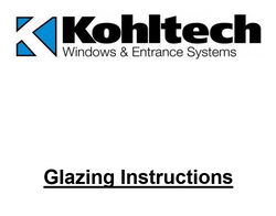 Glazing Instructions Booklet
