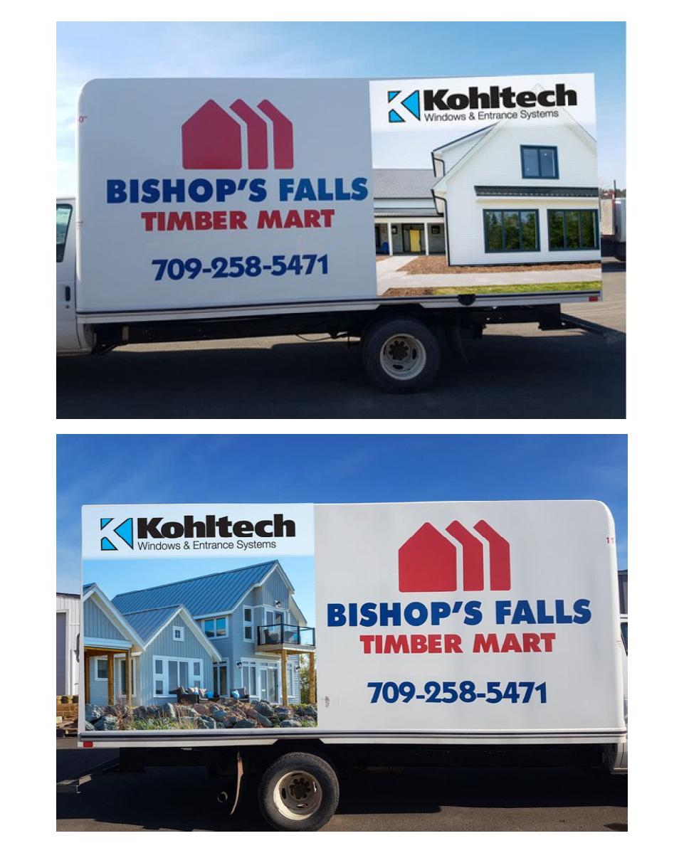 Bishops Falls Truck Decals