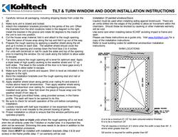 Tilt & Turn Window Installation