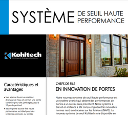 High Performance Sill (French Version)