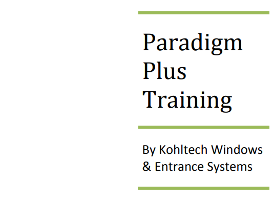 Paradigm Training