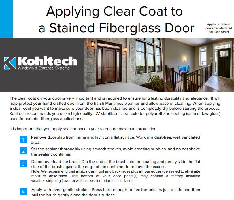 Applying Clear Coat to Stained Door