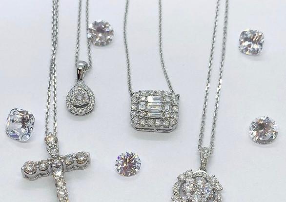 Assorted Diamond Pendants