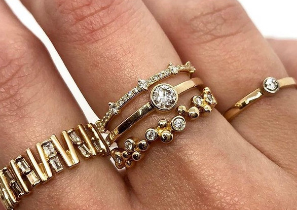 Yellow Gold & Diamond Rings