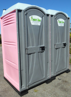 pink scented porta pottys