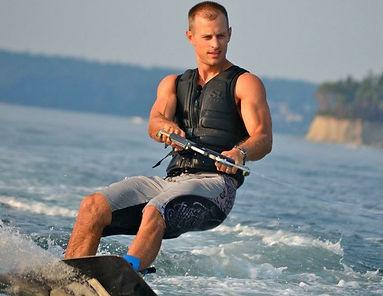 Myles Magnuson wakeboarding