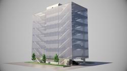 Parkhaus Architektur Rendering