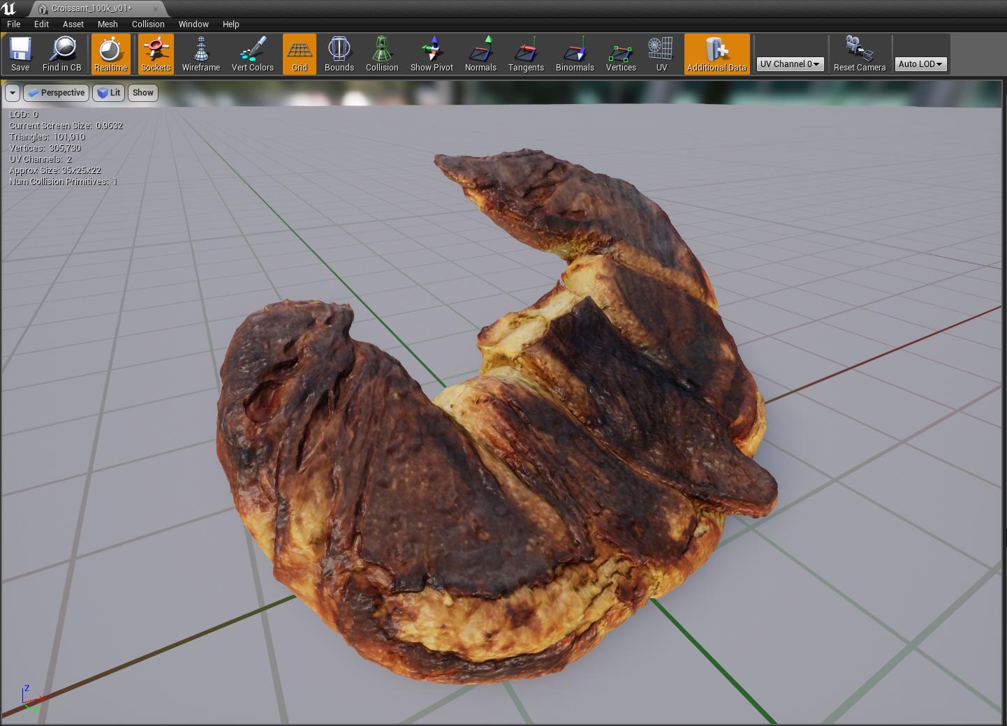Croissant Photogrammetrie VR Unreal