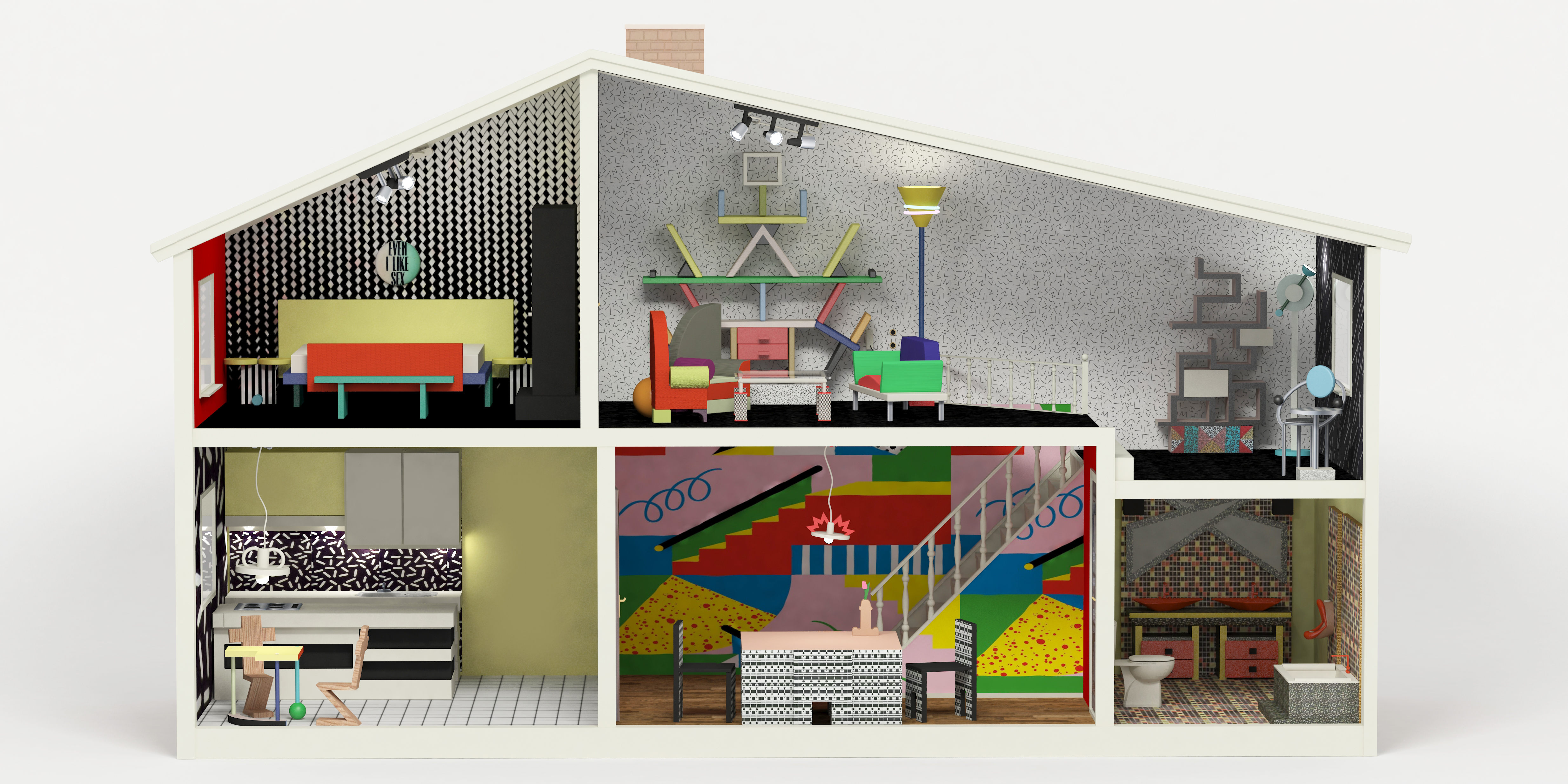 1980 Interior Design Dollhouse