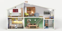 1990 Interior Design Dollhouse
