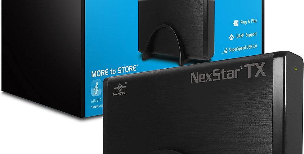 Vantec NexStar TX 3.5in External HDD Enclosure, USB 3.0, Black