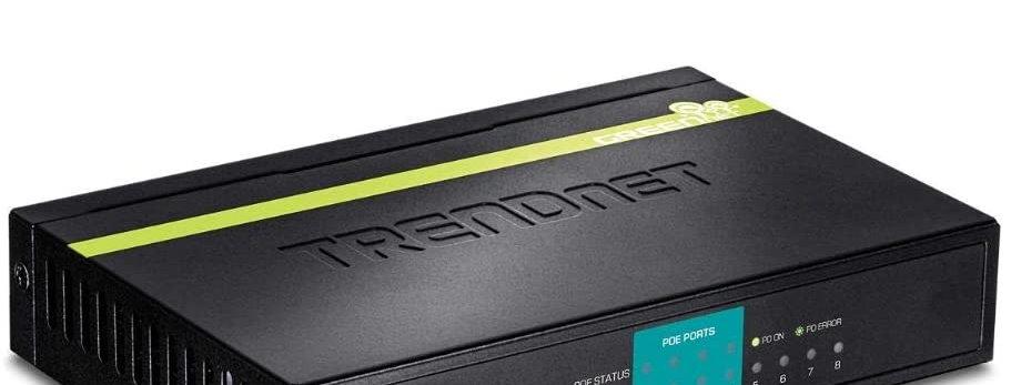 TRENDnet 8-Port Fast Ethernet Switch w/ 4x PoE Ports, 30W PoE Budget