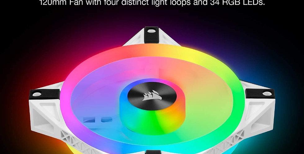 CORSAIR QL Series, iCUE QL120 RGB, 120mm RGB LED PWM White Fan, Single Fan