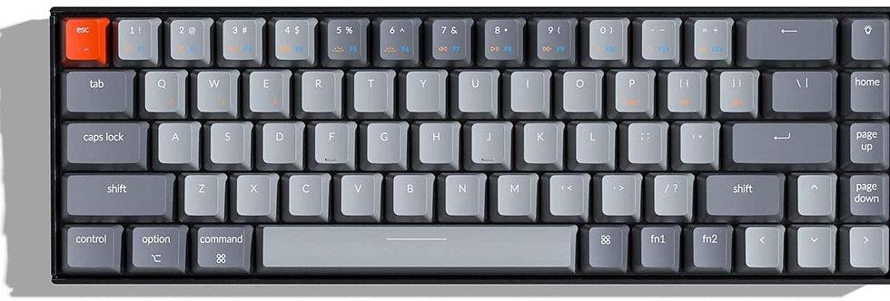 Keychron K6 68-Key Bluetooth Wireless Gaming Mechanical Keyboard with RGB
