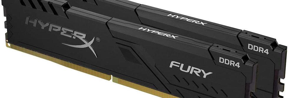 HyperX Kingston 16GB 3200MHz DDR4 CL15 DIMM (Kit of 2) 1Rx8 Fury Black (2x8GB)