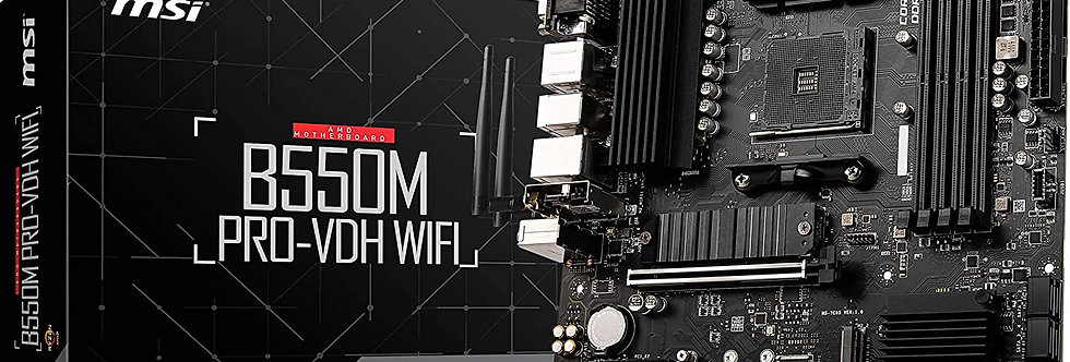MSi B550M PRO-VDH WiFi w/ DDR4-2666, 7.1 Audio, Dual M.2, Gigabit LAN, 802.11ac,