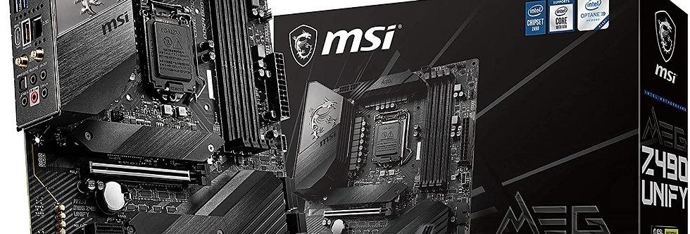 MSI MEG Z490 UNIFY w/ DDR4-2933, 7.1 Audio, Triple M.2, 2.5G LAN, 802.11ax, Blue