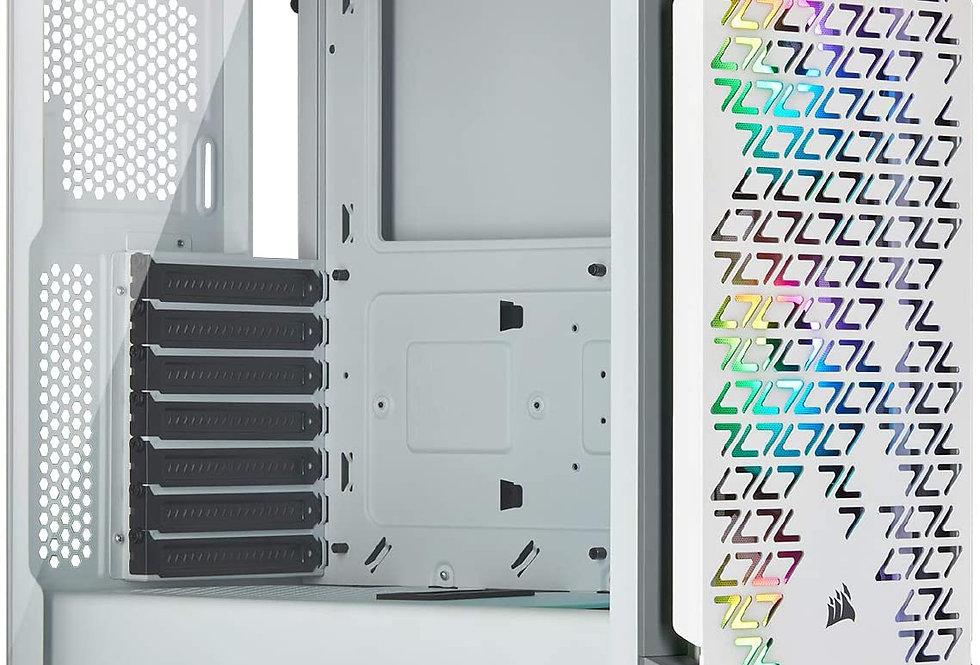 Corsair iCUE 220T RGB Airflow Tempered Glass ATX MidTower Smart Case, White