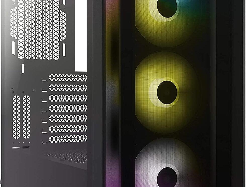 Corsair iCUE 4000X RGB Tempered Glass Mid Tower ATX Case, Black