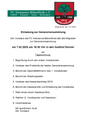 Einladung zur Generalversammlung 2020