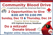 Join Us at the 613thAnnual TBS Brotherhood Community Blood Drive!