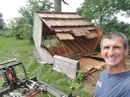 Schott Services provide shed demolition and removal, mini barn demolition and removal. We can remove your gazebo, deck or fence.