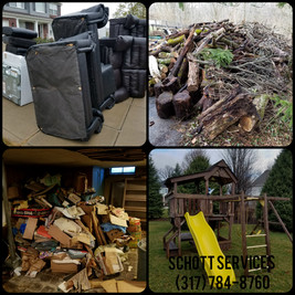 junk removal, hauling, property clean out, estate clean out, garage clean out, furniture removal, tv removal, appliance removal, brush removal, swing set removal, Schott Services, John Schott, Indianapolis, Carmel, Fishers, Zionsvill, Noblesville, Avon