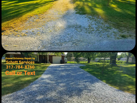 Gravel Driveway Rejuvenation! Sit back and relax...