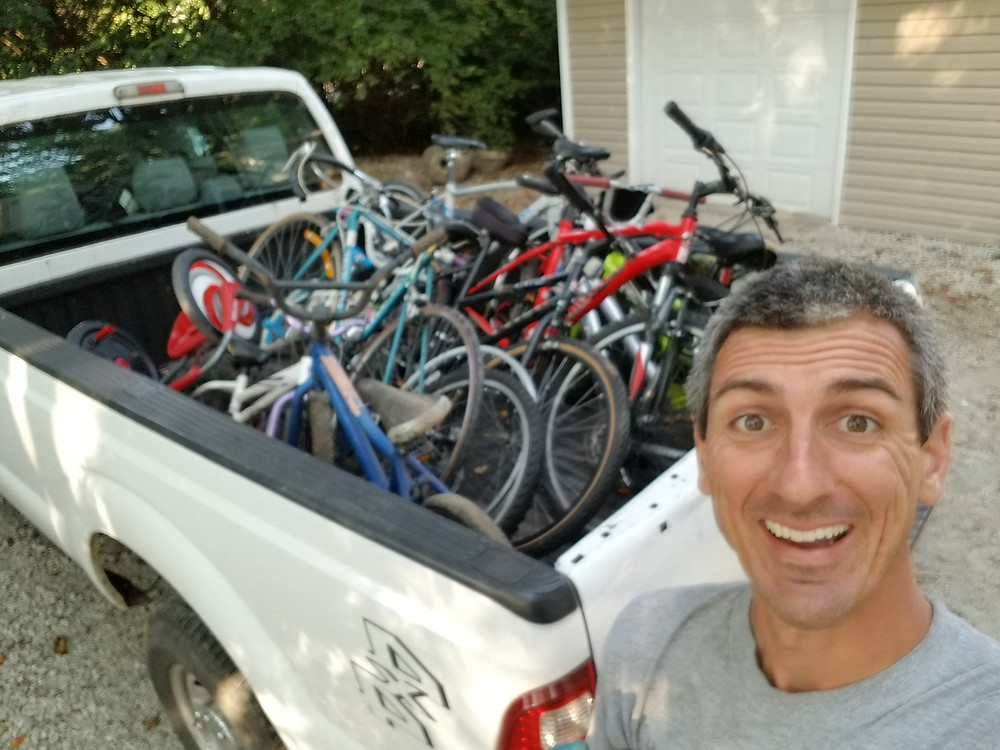 bicycle recycling, hauling, junk removal, Indianapolis, Schott Services