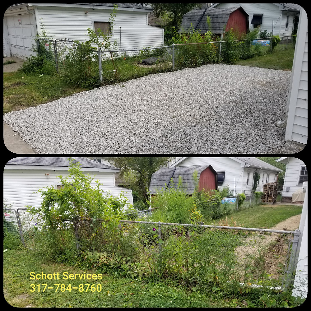 gravel driveway, gravel parking area, Indianapolis, Schott Services, John Schott