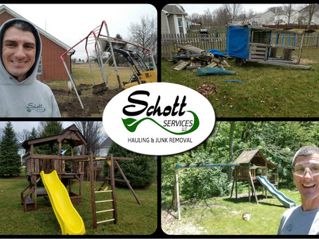 Lots of swing sets to be removed!