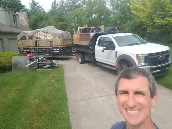 Providing junk removal and trash removal in Geist area since 2003. We haul away basketball goals, swing set and decks.
