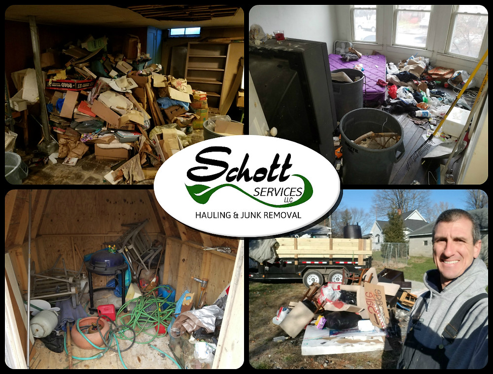 trash removal, trash hauling, trash pickup, curbside pickup, shed clean out, house clean out, basement  clean out, estate clean out, property clean out, junk removal, junk removal near me, pickup my trash, hoarder house clean out, furniture removal, appliance removal, Schott Services, John Schott,