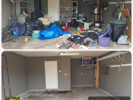 Garage Full Of Trash, Junk and Debris-No Problem For Me! New Years Resolution is to get rid of STUFF