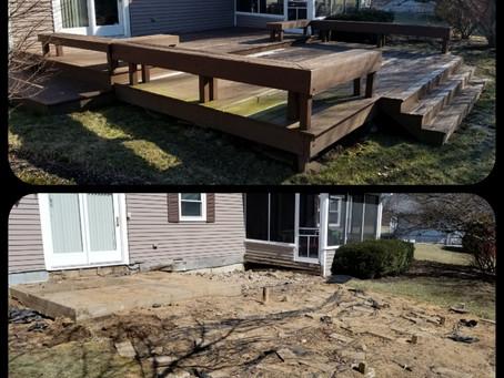 Deck Demolition & Haul Away in Carmel, Fishers & Zionsville