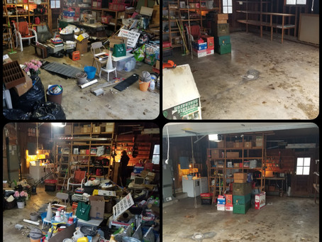 Garage Clutter Clean Up in Geist/Lawrence Area by Schott Services