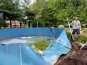 Above Ground Pool Remova by Schott Services-During