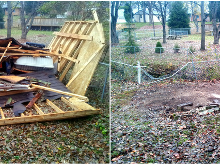 Mini-Barn/Shed Removal From Storm Damage on South Side of Indy