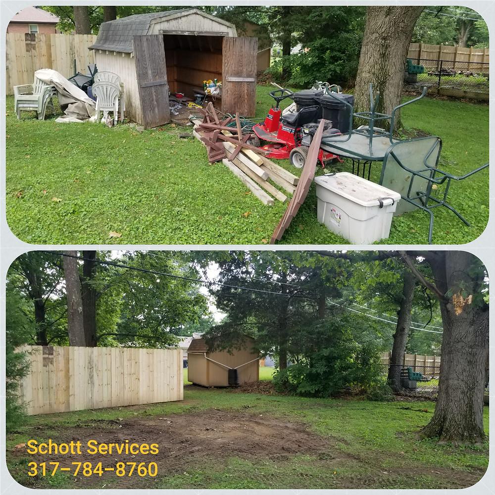 junk removal, shed removal, shed demolition, trash hauling, pickup my trash, Schott Services, John Schott