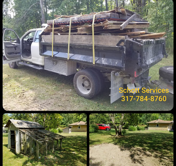 Full dump truck load of barn/chicken coop...we tear it down, load it up and haul it away!