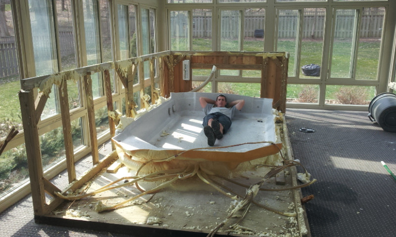 hot tub removal, spa removal, swim spa removal, jacuzzi removall, Indianapolis, Avon, Geist, Speedway, Brownsburg, Fishers, Carmel
