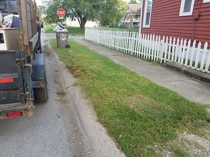 Check out our after picture of curbside junk removal services in Indianapolis.