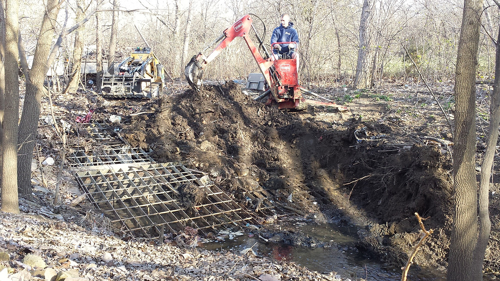 culvert pipe, culvert entryway cleaning, trash removal, junk removal, debris removal, excavating, Indianapolis, Carmel, Greenwood, Fishers, Avon, Brownsburg