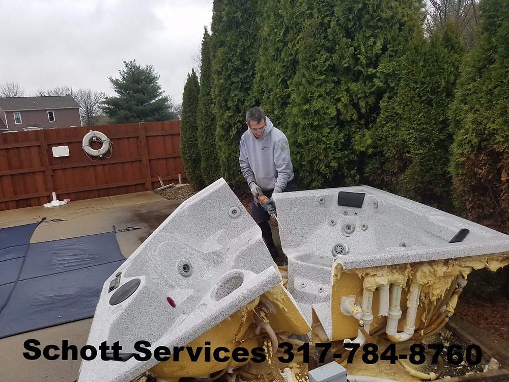Schott Services, 317-784-8760, John Schott, hot tub removal, spa removal, Indianapolis, junk removal, trash removal