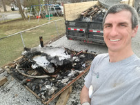 Schott Services hauls away hot tubs, even hot tubs that were set on fire!
