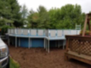 Above ground pool removal by Schott Services- Before