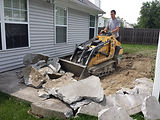 Schott Services provides concrete removal, concrete demolition, haul away bricks, asphalt removal, removal of heavy materials, junk removal, hauling, brick removal, rock removal in Indianapolis.