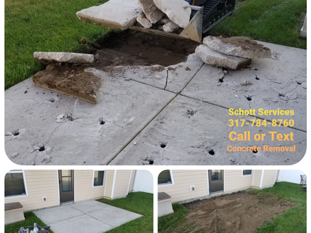 Concrete slab removal...we want your concrete!