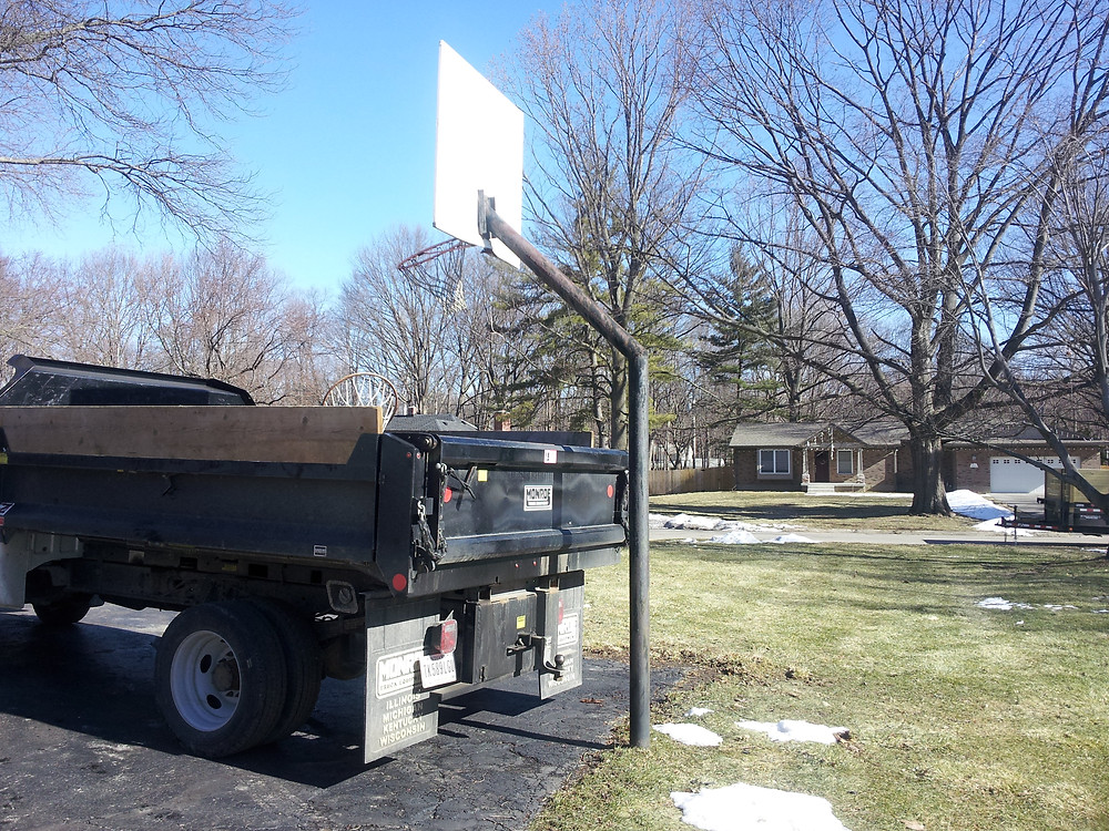 basketball goal removal, bball goal removal, Indianapolis, Carmel, Fishers, Zionsville, Avon, Greenwood, Brownsburg, Lawrence, McCordsville, Whiteland, Mooresville, Junk Removal, Junk Pickup, Hauling