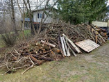 Schott Services provide brush pile removal, brush clearing, brush pickup, brush hauling,